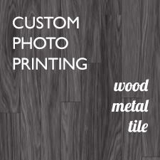 metal and wood photo printing