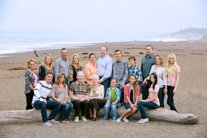 Cambria Moonstone Beach Family Portait